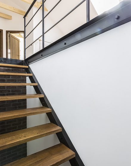 Solid oak wood stairs (Poland)