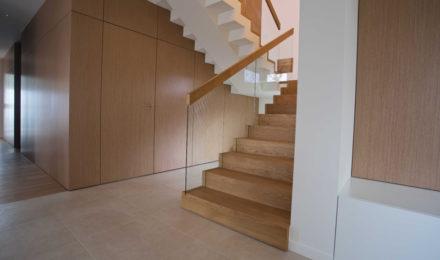Mediniai laiptai U forma Besplavė alyva 3305 Medžio stilius