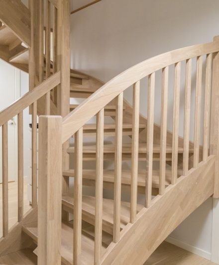 Oak stairs. Norway. Project no. 57