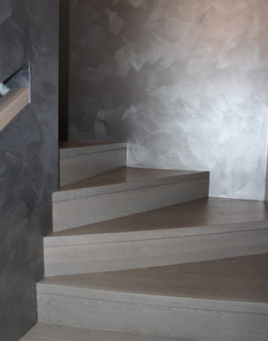 Solid oak wood stairs